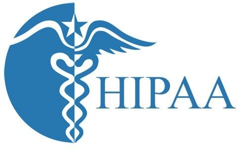 HIPAA compliance blue logo