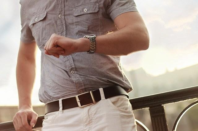 Man checking watch